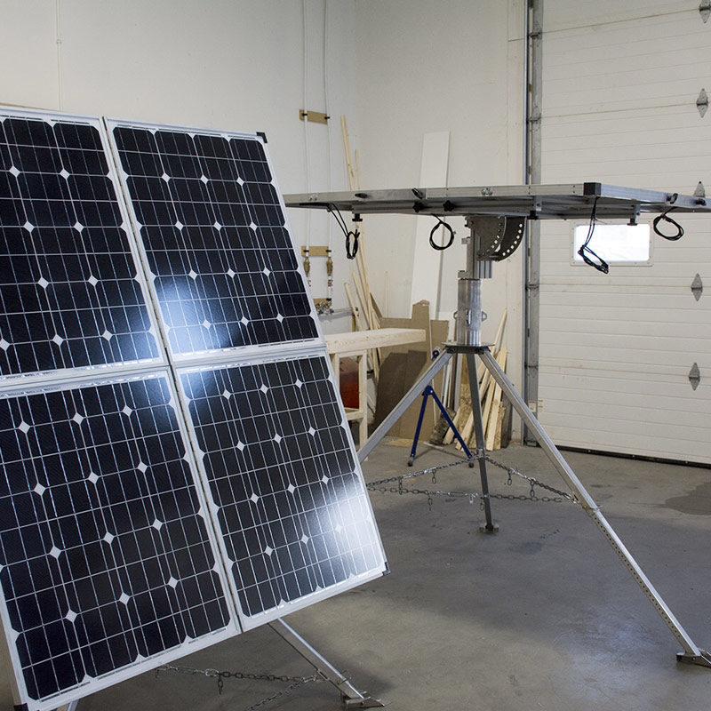 solar generator tripod